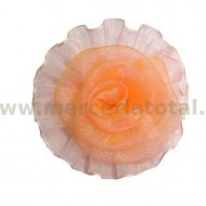 Floare organza corai
