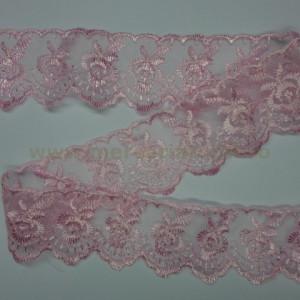Dantela organza 40mm roz