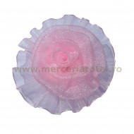 Floare organza roz