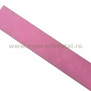 Panglica organza 35mm roz