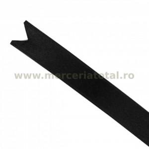 Panglica saten 15mm negru
