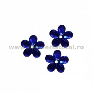 Stras floare albastru