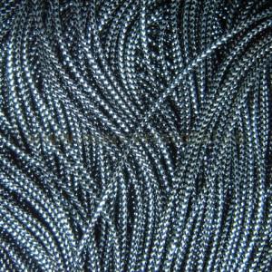 Snur metalic negru/argintiu