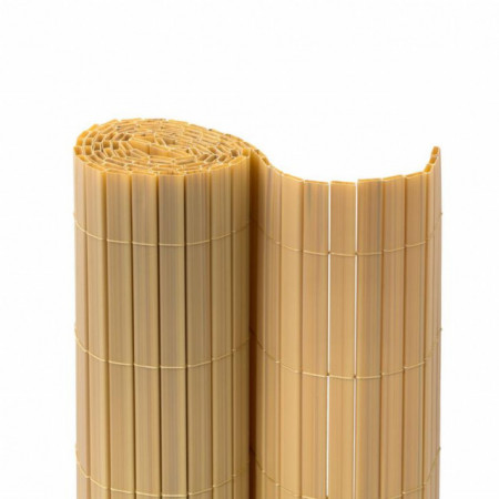 Poze BAMBOO galben, gard din Bambus artificial, role de 1m x3m