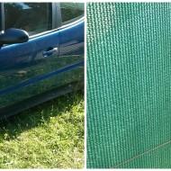 PLASA VERDE plastic- umbrire,mascare,camuflaj-rola 1,5 x 10m, 220 gr/mp