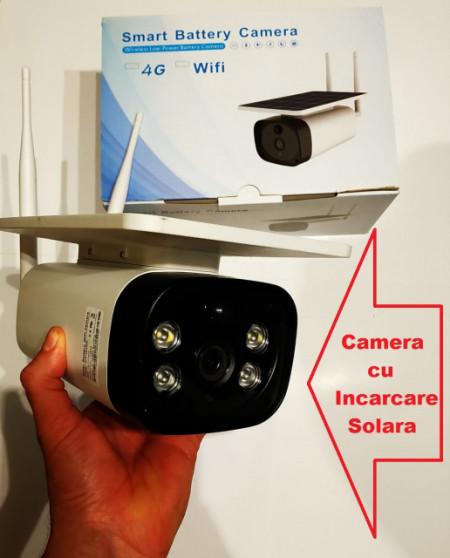Poze Camera Video Solara de Supraveghere WIFI Web IP (Internet LIVE) cu BATERII incorporate de 6000mAH inregistrare pe card/cloud, functionare fara alimentare retea