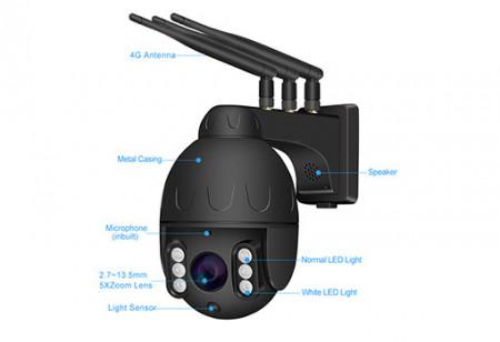 Poze Camera supraveghere exterior ROTATIVA IP wireless SIM 4G Full HD SONY323 20fps