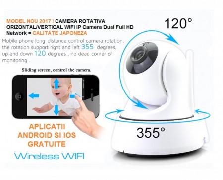 Poze Camera Video Ip wireless P2P filmare HD cu inregistrare pe card WIFI & IR-Cut