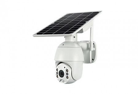 Poze Camera Video Solara de Supraveghere WIFI Web IP rotativa baterii litiu model 18650, 2500mA, 1920*1080 Full HD 1080P