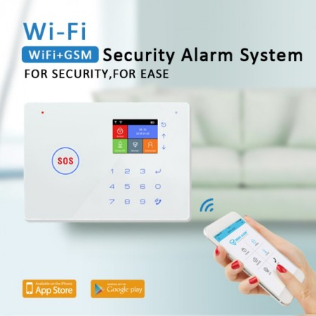 Poze Model 2019 Alarma WIFI GSM G66W cu centrala telefonica si Aplicatie Google Play/App Store /