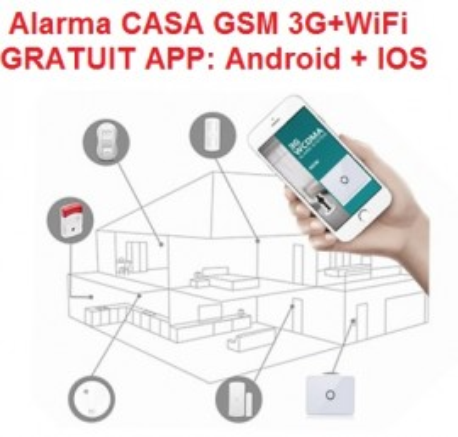 Poze Sistem Alarma Casa 3G Wifi GSM Android + IOS APP model nou