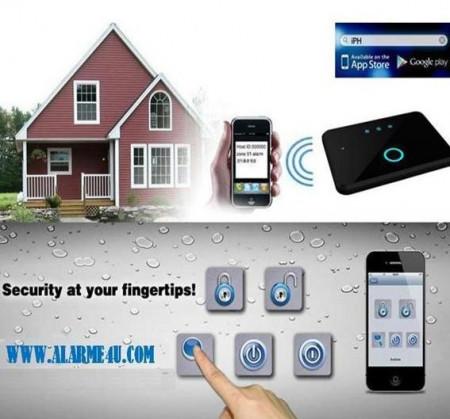 Poze Alarma Casa GSM Profesioanla cu acces APP pe IOS/ANDROID