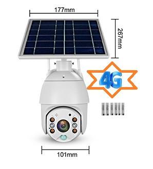 Poze Camera Video Solara de Supraveghere 4G Web IP rotativa baterii litiu PIR WiFi PTZ, APK UBOX