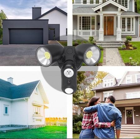 Poze Camera video profesionala zi/noapte full HD, Proiector LED 1800 Lumeni, Detectie Miscare, Aplicatie Alexa