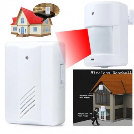 Poze Senzor intrare usa PIR wireless functie prezenta Ding Dang sau Securitate Alarma 80 Db