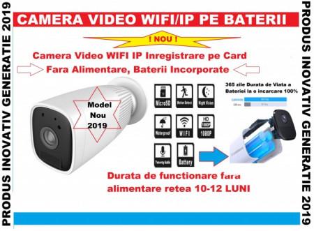 Poze NOU !!! Camera Video de Supraveghere WIFI Web IP (Internet LIVE) cu BATERII incorporate de 12000mAH inregistrare pe card/cloud, functionare 12 luni fara alimentare retea pentru Exterior/Interior