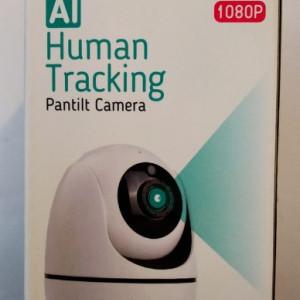Camera video inteligentă de securitate cu detectare a feței + urmărire automată și unghi de vizionare 360 °, inregistrare pe card/cloud