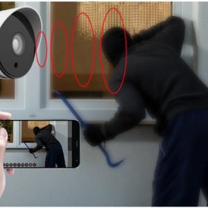 Camera Video Ip 720P de Exterior cu inregistrare pe CARD WIFI & IR-Cut iOS, Android
