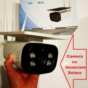 Camera Video Solara de Supraveghere WIFI Web IP (Internet LIVE) cu BATERII incorporate de 6000mAH inregistrare pe card/cloud, functionare fara alimentare retea