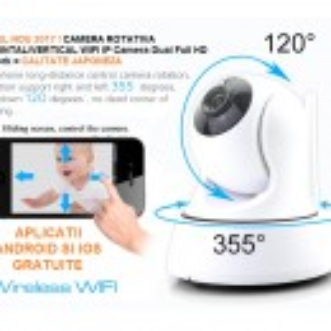 Camera Video Ip wireless P2P filmare HD cu inregistrare pe card WIFI & IR-Cut