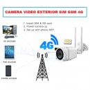 Camera video de exterior GSM 4G Slot SIM wireless 5Mp IP Full HD Inregistrare pe Card/Cloud