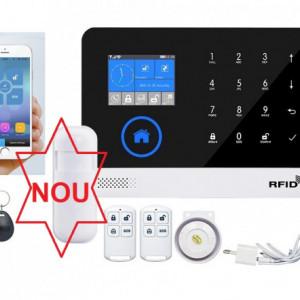 Model nou Alarma RFID WIFI GSM GPRS cu centrala telefonica si Aplicatie Google Play/App Store + Tag-uri de acces