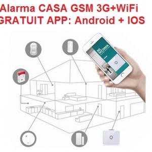 Sistem Alarma Casa 3G Wifi GSM Android + IOS APP model nou