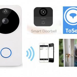 Sonerie fara fir cu video camera Full HD, Baterie Incorporata, Wireless IP, APK Android si IOS 1080P/2.0M