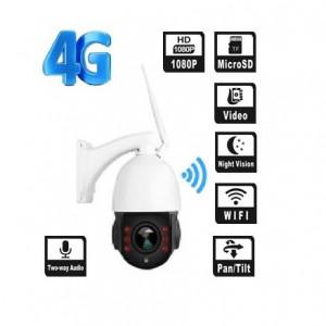 Camera supraveghere exterior ROTATIVA IP wireless SIM 4G Full HD 2 MP Sony 1920x1080p 10X Zoom Optic, Sd Card