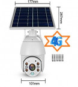 Camera Video Solara de Supraveghere 4G Web IP rotativa baterii litiu PIR WiFi PTZ, APK UBOX