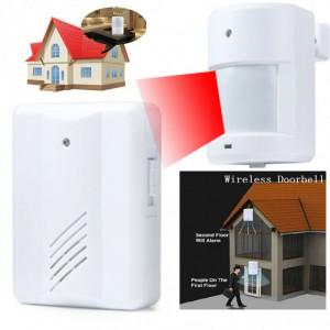 Senzor intrare usa PIR wireless functie prezenta Ding Dang sau Securitate Alarma 80 Db