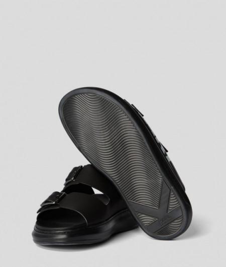 Papuci Karl Lagerfeld Kapri Double Buckle Logo