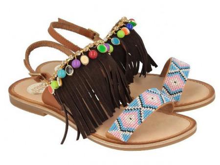 Sandale din piele cu accesorii Gioseppo Cheyenne