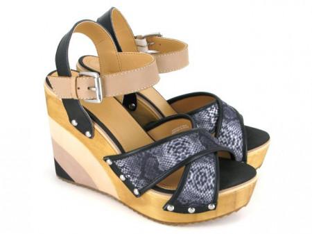 Sandale cu platforma Gioseppo Monegasca Nero