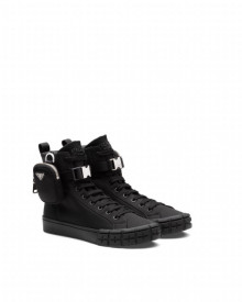 Sneakers Prada Wheel Re-Nylon high-top