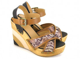 Sandale cu platforma Gioseppo Monegasca Cuero