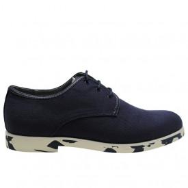 Pantofi Anthony Miles din material textil, cu talpa colorata