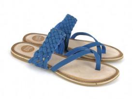 Papuci din piele impletita Domitila