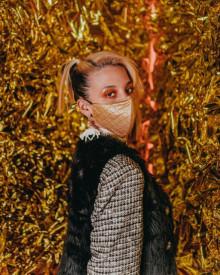 Masca Sprayground Gold spucci