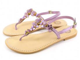 Sandale din piele cu accesorii pietre Marchasita
