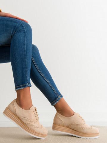 Pantofi casual cod 8998-46 Beige