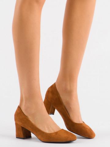 Pantofi cu toc cod 3132 Camel