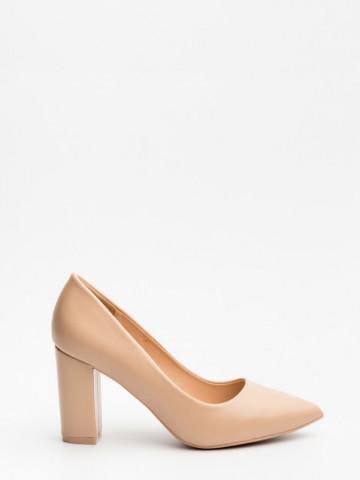 Pantofi cu toc cod 4049 Nude