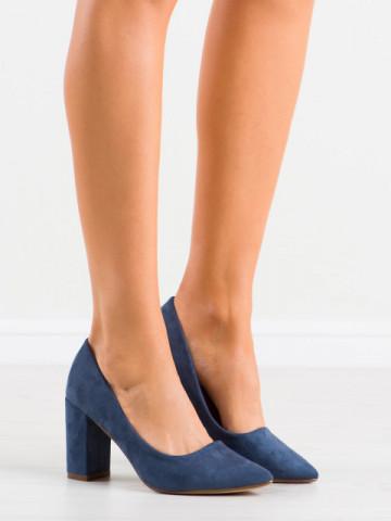 Pantofi cu toc cod NF47 Dark Blue