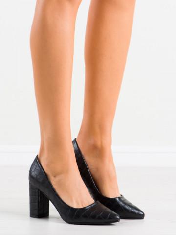 Pantofi cu toc cod NF64 Black