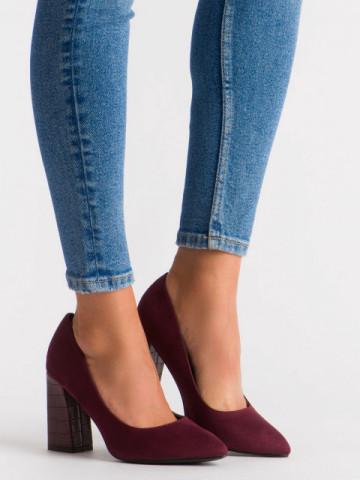 Pantofi cu toc cod OD0264 Wine Red