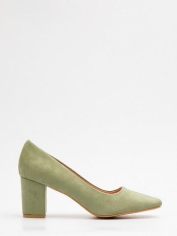 Pantofi cu toc cod X21-731 Green