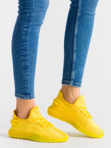 Pantofi sport cod 1659 Yellow