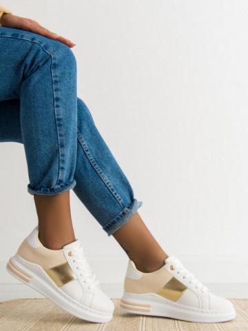 Pantofi sport cod 2027 White/Beige