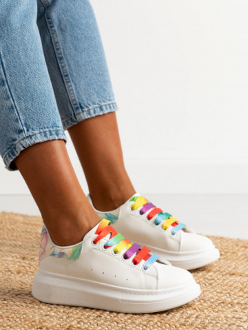 Pantofi sport cod 20C01 White/Colour